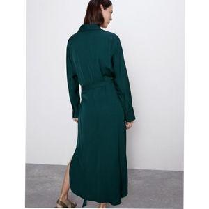 Zara satin effect dress with bow